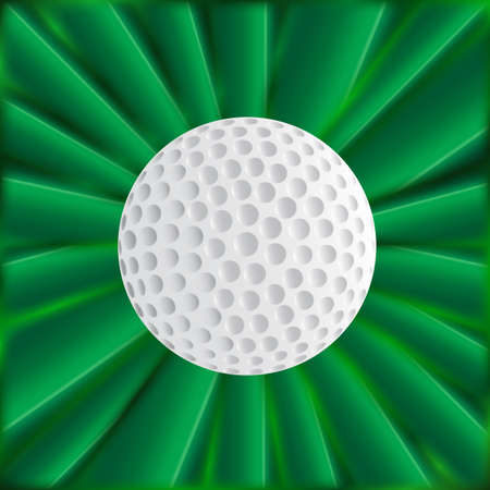 golfball: A typical golfball over a green material background