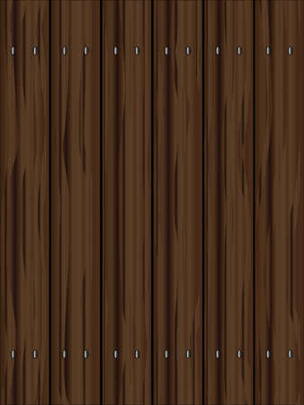 softwood: A fence made of softwood planks showing the wood grain and darkened with age