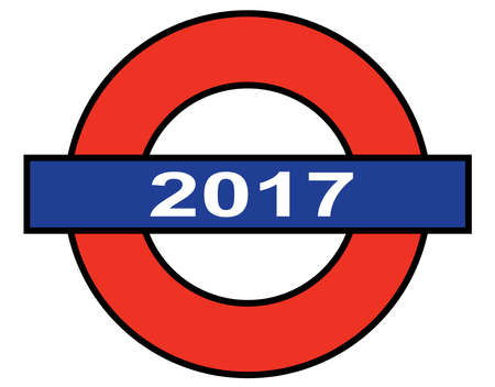depiction: A depiction of the London Underground with the year 2017 Illustration