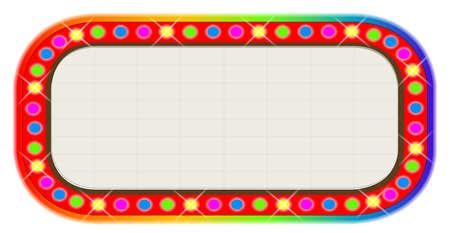 las vegas lights: A multi coloured light bulbcinema or theatre marquee. Illustration