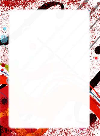 computer club: Violin closeup set on an abastract jazz grunge background Illustration