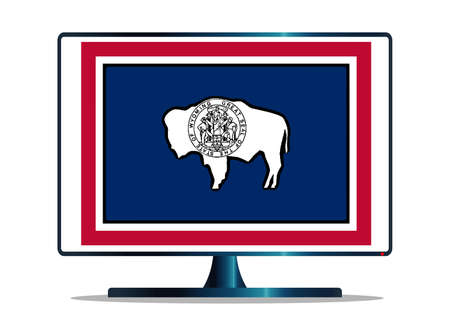 space television: A TV or computer screen with the Wyoming state flag