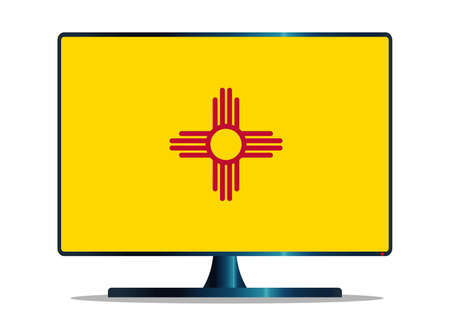space television: A TV or computer screen with the New Mexico state flag