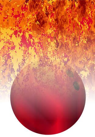 ten pin bowling: A roaring flames image background with faded bowling ball