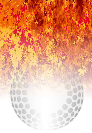 furnace: A roaring flames image background with faded hockey ball