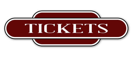name plate: A ticket station name plate over a white background Illustration
