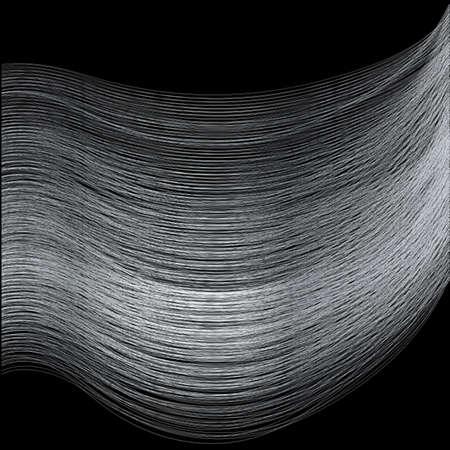 fine silver: Fine silver thread over a black background
