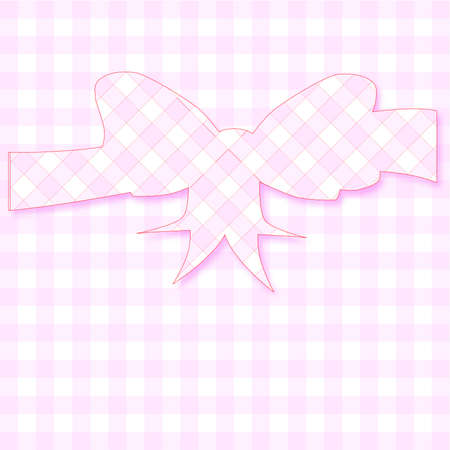 gingham: A gingham background with a bow in gingham silhouette