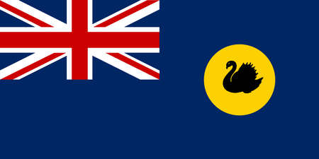The flag of the state of Western Australia Illustration