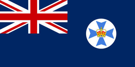 The flag of the Australian state of Queensland Illustration