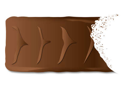bite: A typical chocolate biscuit with a bite mark