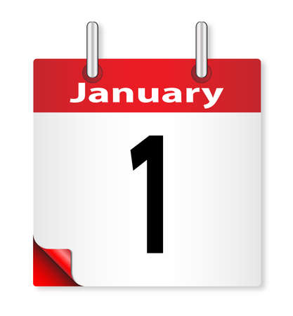 january 1st: A calender date offering the 1st January