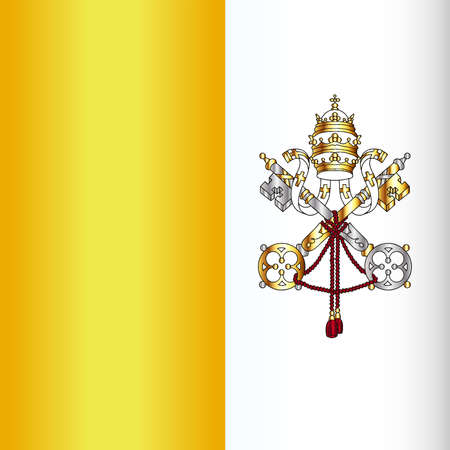 depiction: A depiction of the flag of Vatican city Illustration