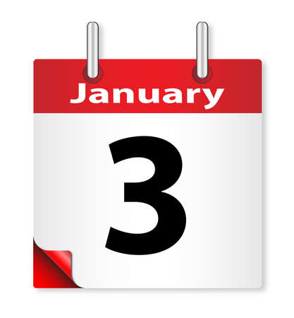 almanac: A calender date offering the 3rd January