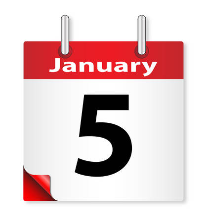 A calender date offering the 5th January