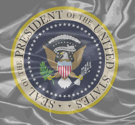 depiction: A depiction of the seal of the president of the United States of America on a silk background Illustration