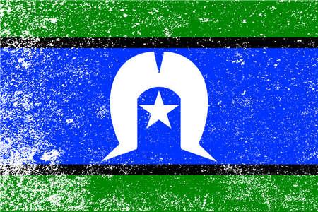 islander: The flag of the Australian Torres Strait Islander with grunge