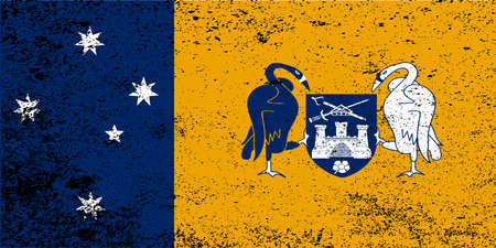 oz: The flag of the Australian Capital Territory with grunge