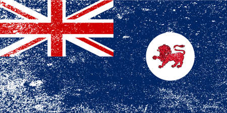The flag of the Australian state of Tasmania with grunge