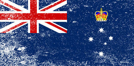 oz: The flag of the Australian state of Victoria with grunge