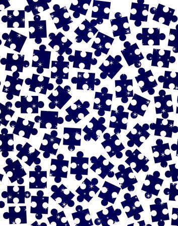 lugs: Random dark jigsaw pieces over a light background