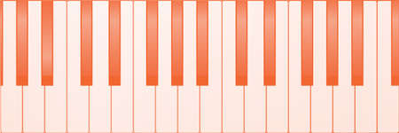 Several piano keys set as a background