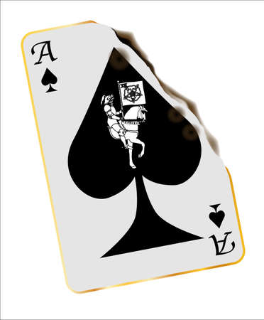 burned: Abstract burned ace of spades with Death emblem