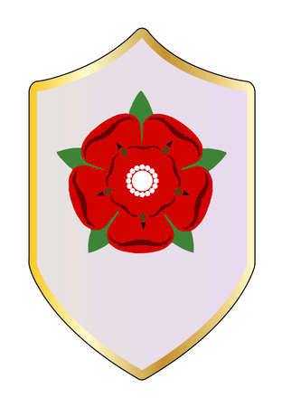 shiled: A  shiled with the Lancastrian red rose emblem Illustration