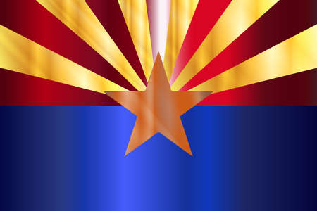 The state flag of the  State of Arizona