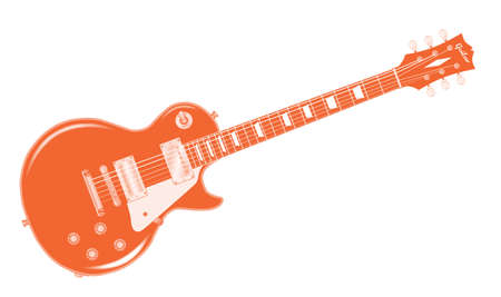 The definitive rock and roll guitar in black, isolated over a white background.