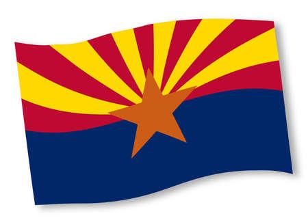 state of arizona: The state flag of the  State of Arizona