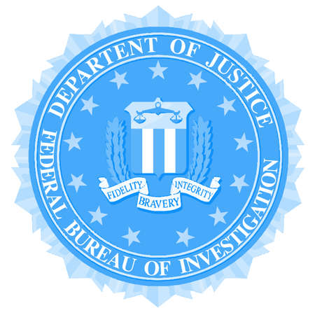 bureau: The seal of the Federal Bureau of Information over a white background Illustration