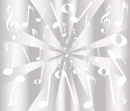 musical notation: White and silver musical notation as a background Illustration