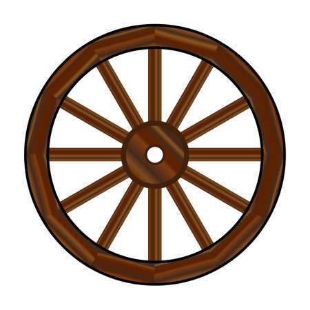 Ein typisches Rad von einem westlichen Planwagen