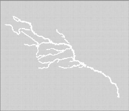 flowing river: Halftone map of the Colorado River and tributaries Illustration