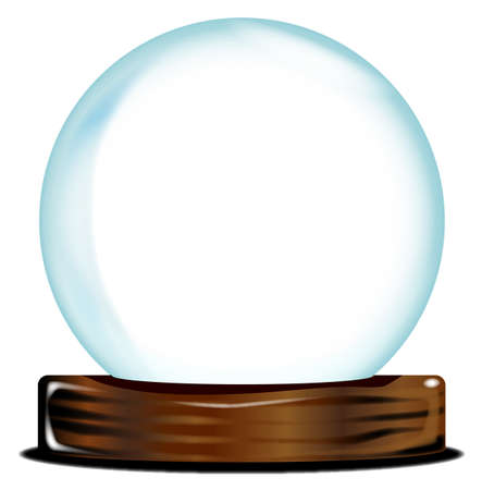 gazing: A blank  crystal ball over over a white background
