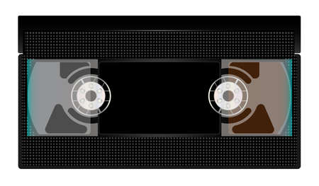 old  fashioned: A typical old fashioned video cassette over a white background