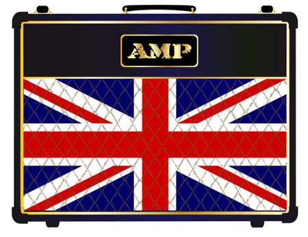 combo: A typical electric guitar combo valve amplifier with the Unuon Jack flag