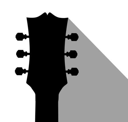 headstock: A traditional guitar headstock with dark shadow