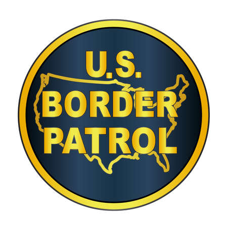 depiction: A depiction of the United States Border Control button