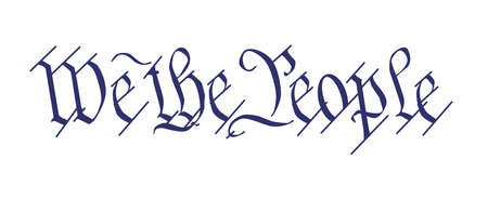 The opening line We The People from the Bill of Rights Vettoriali