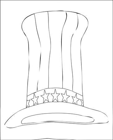 sam: Black and white Uncle Sam style top hat