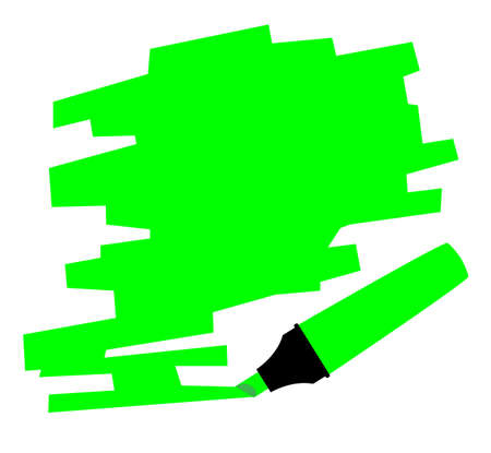 A green copy space marked out by a red highlighter pen