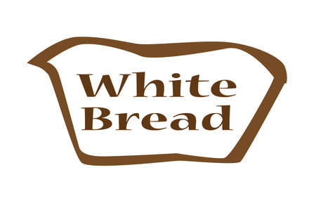 spelt: White bread outline silhouette icon over a white backgound Illustration