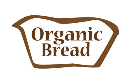 wholemeal: Bread outline silhouette icon over a white backgound Illustration