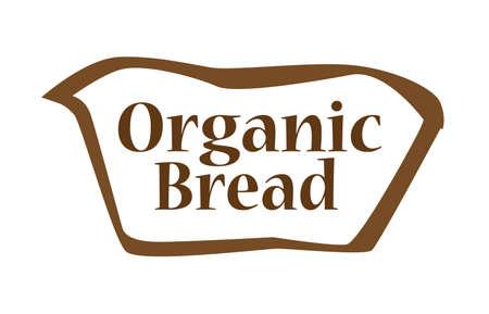 spelt: Bread outline silhouette icon over a white backgound Illustration