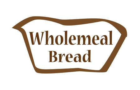 spelt: Bread outline silhouette icon over a white backgound Illustration