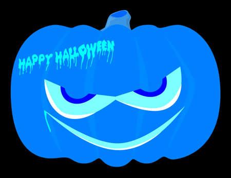 jack o  lanterns: Evil halloween pumpkin over a black background