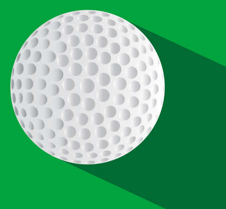 A new golf ball over a two tone green base Illustration