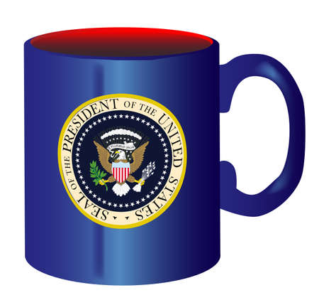 spoof: A spoof drawing of the mug of he President of the United States of America over a white background